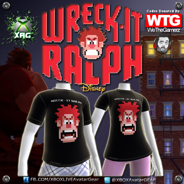 Wreck-It Ralph XBOX 360 Avatar Code Giveaway E3 2012 Exclusive (1/2)