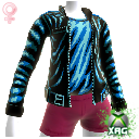 Pleather Pixel Jacket Female