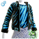 Pleather Pixel Jacket Male